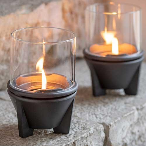 Indoor CeraLava met windglas
